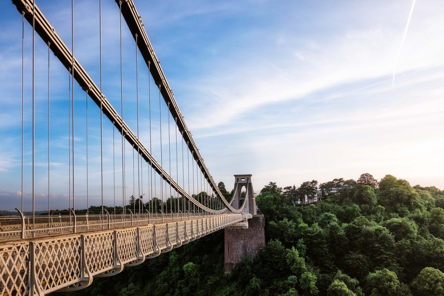 Den berømte Clifton-hængebro ved Bristol