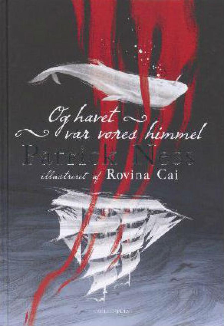 """Forside af bogen """"Og havet var vor himmel"""", illustrator: Rovina Cai"""