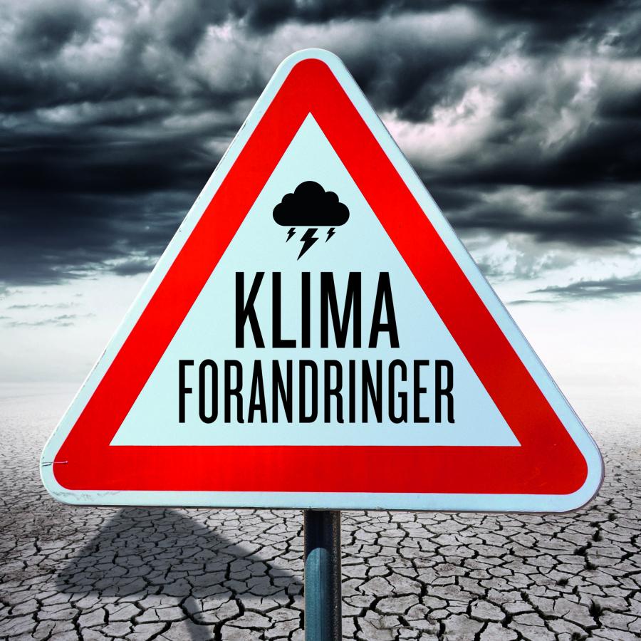 Forsiden af folder med bøger om klimaforandringer