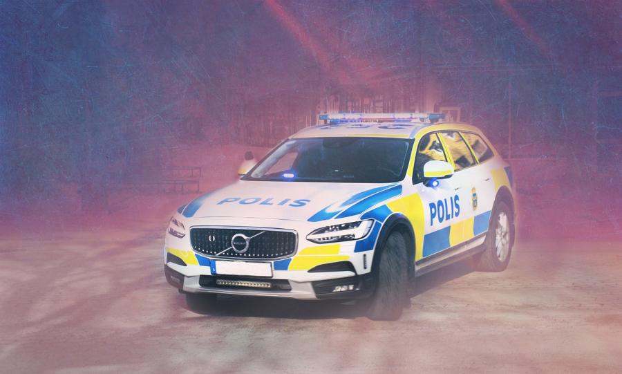 Svensk politibil