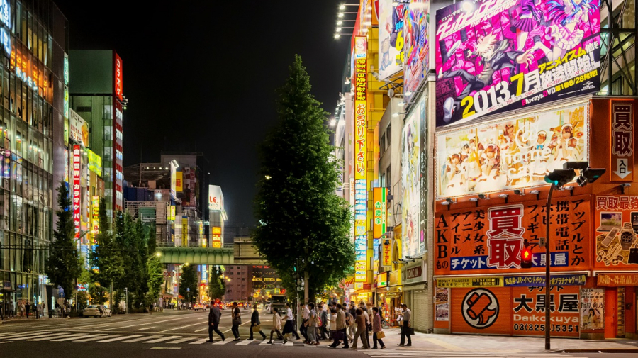 Neonlys i Tokyo