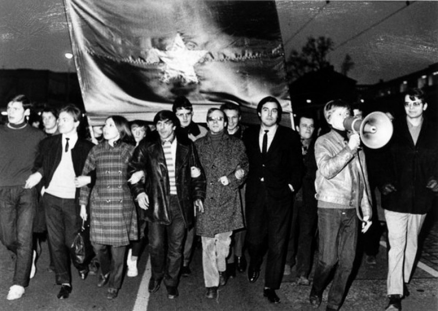Demonstration i 1968 mod Vietnam-krigen