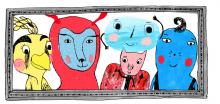Wuwu og co. Forfattet af Merete Pryds Helle, illustreret af Kamila Slocinska og udviklet og udgivet af Step in Books